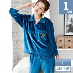 Wonderland 秋季風尚金絲絨衣褲組(2色)