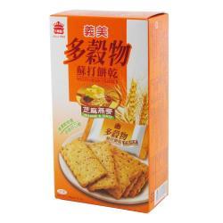 義美-多穀物蘇打餅乾(芝麻燕麥)135g
