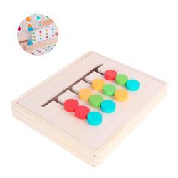 益智遊戲 右腦開發四色邏輯遊戲  空間排序顏色形狀組合智力板兒童玩具