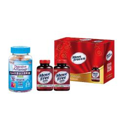 【Schiff】Move Free 葡萄糖胺錠 2000mg禮盒+DA兒童益生菌軟糖60粒