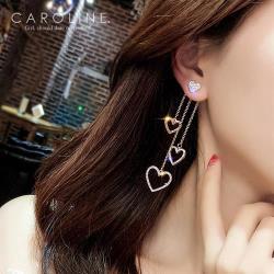 《Caroline》★韓國官網熱賣愛心長款甜美浪漫風格時尚流行耳環69971