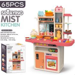 兒童93cm 大號仿真噴水噴霧廚房玩具組 辨家家酒 做飯煮飯餐具台