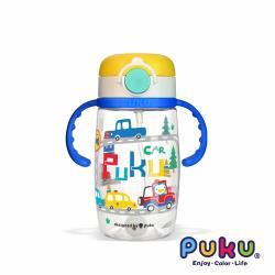 PUKU藍色企鵝 Tritan彩虹糖水杯330ml_藍汽車