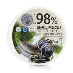 3W Clinic 98% 蝸牛舒緩保濕凝凍 98% Snail Mucus Soothing Gel 300ml/10.14oz