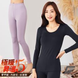 【GIAT】台灣製極暖磨毛女發熱衣褲