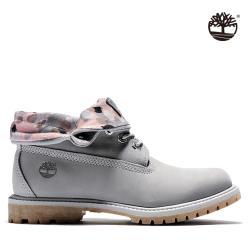 (多款下殺)Timberland 女款中灰色磨砂革拼接反折中筒靴A2MEJ050