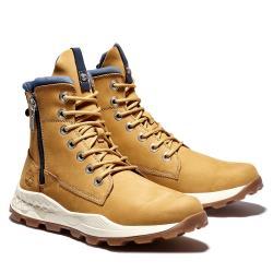 Timberland 男款小麥色磨砂革Brooklyn拉鍊靴A2E7F231