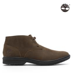 Timberland 男款深棕色磨砂革防水短靴A1QCT221