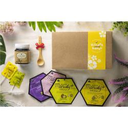 【小鎮蜂蜜台灣唯一總代理】甜甜蜜蜜 麥蘆卡棒棒糖 & 蜂蜜精美禮盒 (Manudy+MGO250+棒棒糖 4種口味各一包&乳化活性25+麥蘆卡蜂蜜1罐