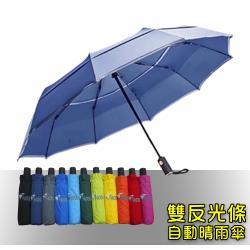 HOSA  安全雙反光自動傘(深藍)