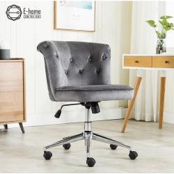 E-home Gloria格羅利亞絨布拉扣雅緻電腦椅-兩色可選