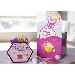 【小鎮蜂蜜台灣唯一總代理】來點甜頭 麥蘆卡棒棒糖童趣禮盒Manudy+MGO250+棒棒糖(草莓/檸檬/黑加侖/奇異果)&喉糖(