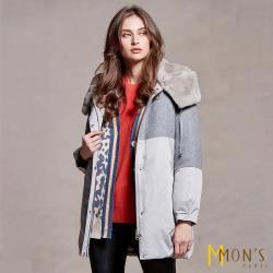 MONS 兔毛內裡配羊毛大衣