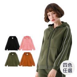 GIORDANO 女裝針織運動連帽外套 (多色任選)-熱銷款