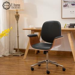 E-home Idalia伊達利亞中低背曲木扶手電腦椅-兩色可選