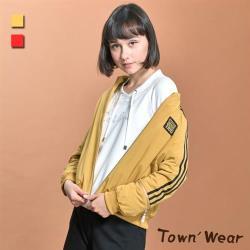 【TOWN'WEAR 棠葳】保暖鋪棉飛行夾克外套 2色