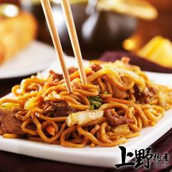 【上野物產】台灣大廠第一製作 黑胡椒鐵板麵(300g±10%/麵體+醬料/包)x1包