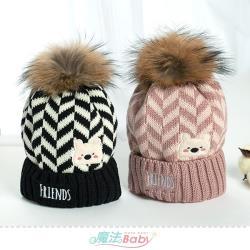 魔法Baby 嬰幼兒帽 柔軟保暖針織嬰兒毛線帽~g2611a