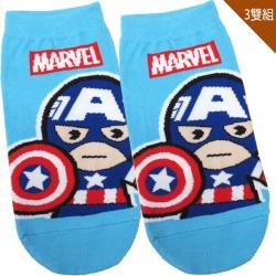 兒童襪子漫威英雄美國隊長童襪短襪直版襪3入組15-22cm 411845【卡通小物】