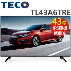 【送日式碗組(五入)】TECO東元 43吋 FHD低藍光液晶顯示器+視訊盒(TL43A6TRE)