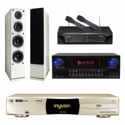 音圓 S-2001 N2-150點歌機4TB+KAR MEN X8+CHIAYO NDR-2120+AUSTIN AS-168(白)
