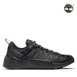 Timberland 男款黑色織物防潑水休閒鞋A2BA6015