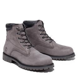 Timberland 男款中灰色磨砂革防水6吋靴A2JCT033