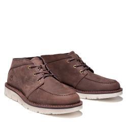 Timberland 男款深棕色磨砂革中筒靴A41YAV13