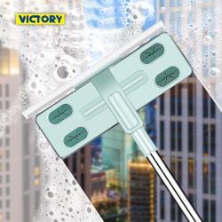 VICTORY 家用超細纖維多功能刮水擦窗玻璃刷2支