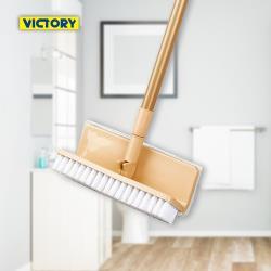 VICTORY 浴室多功能超細纖維兩用拖把地板刷2支