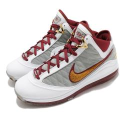 Nike 籃球鞋 LeBron VII QS 運動 男鞋 氣墊 避震 明星款 復刻 球鞋 穿搭 白 紅 CZ8915100 [ACS 跨運動]