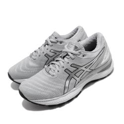 Asics 慢跑鞋 Gel Nimbus 22 女鞋 亞瑟士 路跑 避震 高緩衝 亞瑟膠 灰 銀 1012A664020 [ACS 跨運動]