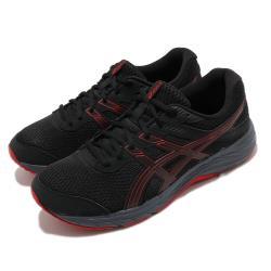 Asics 慢跑鞋 Gel-Contend 6 運動 男鞋 亞瑟士 路跑 耐磨 緩衝 入門 亞瑟膠 黑 紅 1011A667004 [ACS 跨運動]