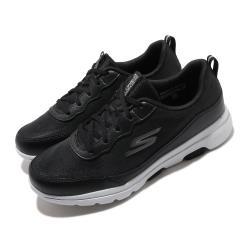 Skechers休閒鞋GoWalk5運動女鞋穩定避震輕盈透氣瑜珈鞋墊健走郊遊黑白124228BKW[ACS跨運動]