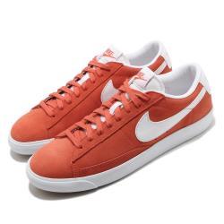 Nike 休閒鞋 Blazer Low Suede 男鞋 基本款 簡約 麂皮 質感 球鞋 穿搭 橘紅 白 CZ4703800 [ACS 跨運動]