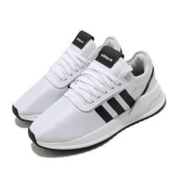 adidas 休閒鞋 U Path X 襪套式 女鞋 愛迪達 三葉草 流行 穿搭 緞面滑布 白 黑 FV9255 [ACS 跨運動]