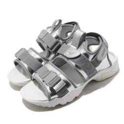 Nike 涼拖鞋 Canyon Sandal 穿搭 女 魔鬼氈 簡約 夏日 輕便 銀 白 CW6211001 [ACS 跨運動]