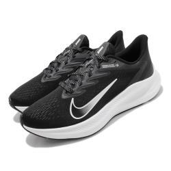 Nike 慢跑鞋 Zoom Winflo 7 運動 男鞋 氣墊 避震 路跑 健身 透氣 舒適 黑 白 CJ0291005 [ACS 跨運動]