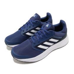 adidas 慢跑鞋 Galaxy 5 運動休閒 男鞋 愛迪達 路跑 輕量 緩震 透氣 球鞋穿搭 藍 白 FW5705 [ACS 跨運動]