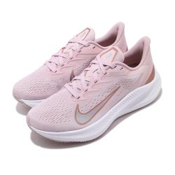 Nike 慢跑鞋 Zoom Winflo 7 運動 女鞋 氣墊 避震 舒適 透氣 路跑 健身 粉 白 CJ0302601 [ACS 跨運動]