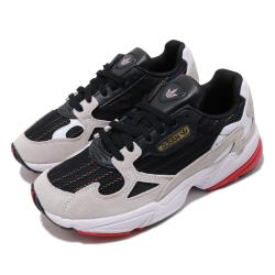 adidas 休閒鞋 Falcon 老爹鞋 厚底 女鞋 愛迪達 三葉草 流行 穿搭 麂皮 黑 白 Q47262 [ACS 跨運動]