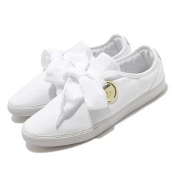adidas 休閒鞋 Sleek LO W 復古 女鞋 愛迪達 三葉草 流行款 極粗鞋帶 白 金 FV0740 [ACS 跨運動]