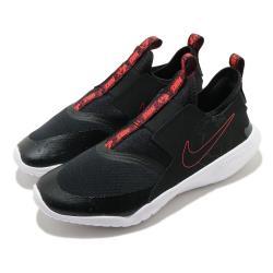 Nike 休閒鞋 Flex Runner SE 運動 女鞋 襪套 簡約 輕便 套腳 大童 穿搭 黑 紅 CZ6528001 [ACS 跨運動]