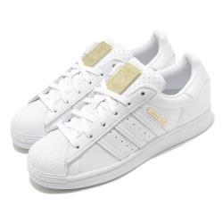 adidas 休閒鞋 Superstar 復古 低筒 女鞋 愛迪達 三葉草 皮革鞋面 點點 貝殼頭 白 金 FW3713 [ACS 跨運動]
