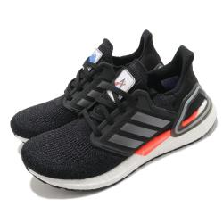 adidas 慢跑鞋 Ultraboost 20 襪套式 女鞋 愛迪達 緩震 路跑 NASA 球鞋穿搭 黑 白 FZ0174 [ACS 跨運動]
