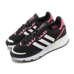 adidas 休閒鞋 ZX 1K Boost 運動 女鞋 愛迪達 三線 緩震 基本款 球鞋穿搭 黑 粉 FX6872 [ACS 跨運動]