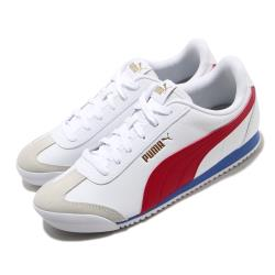 Puma 休閒鞋 Turino 復古 運動 男女鞋 基本款 皮革 簡約 情侶穿搭 舒適 白 紅 37111309 [ACS 跨運動]