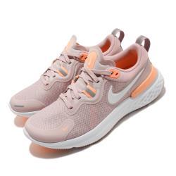Nike 慢跑鞋 React Miler 運動 女鞋 輕量 透氣 避震 反光 粉 橘 CW1778602 [ACS 跨運動]
