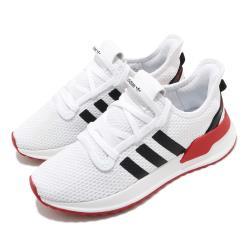 adidas 休閒鞋 U Path Run 襪套式 男女鞋 愛迪達 基本款 緩震 情侶鞋穿搭 白 黑 紅 FX0104 [ACS 跨運動]