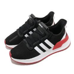 adidas 休閒鞋 U Path Run 襪套式 男女鞋 愛迪達 基本款 緩震 情侶鞋穿搭 黑 白 紅 FX0102 [ACS 跨運動]